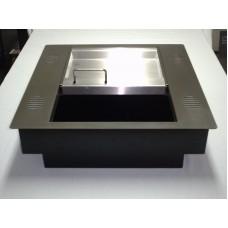 Паричник с подвижен контейнер с вградени резонатори /хром-никел/ №10