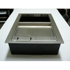 Паричник с подвижен контейнер дълбок / лицев панел хром-никел/ №14