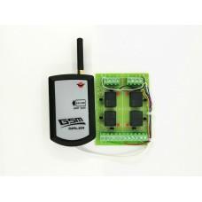 GSM дайлер 24V с 4 изхода и платка 4 релета